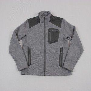 Marmot Full Zip Knit Fleece Outdoor Hiking Jacket